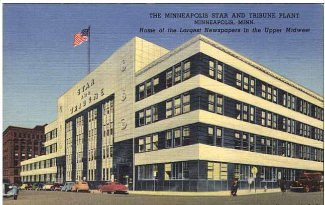 A 1950 postcard from the Star Tribune. (Photo courtesy the Minneapolis Star Tribune)