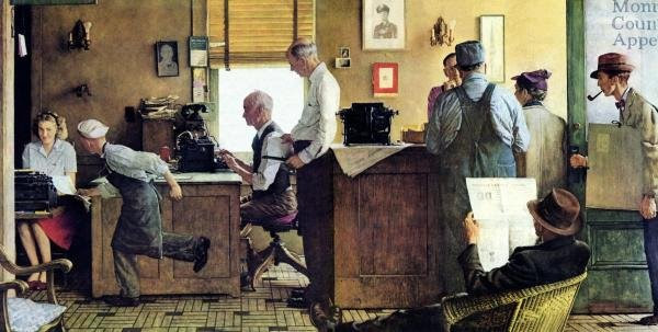 'Norman Rockwell Visits a Country Editor' (Photo via The National Press Club.)
