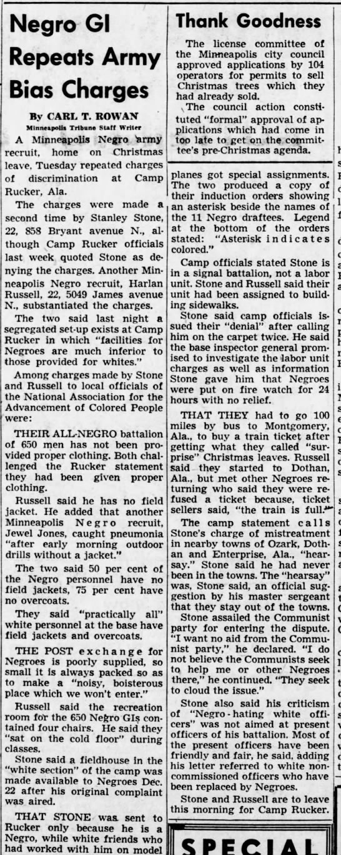 From The Minneapolis Morning Tribune, Dec. 27, 1950.