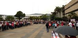 """22 secciones sindicales del magisterio en México, protestan contra la """"reforma educativa""""."""