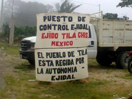 """""""Nos estamos gobernando de acuerdo a la libre determinación"""", Ejido Tila Chiapas."""
