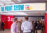Attendees line up for The Print Show
