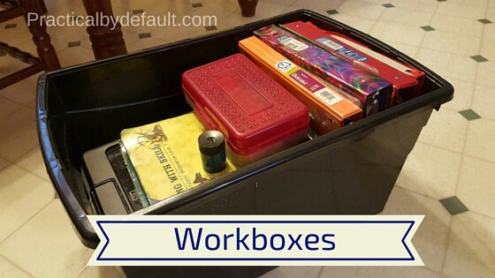 Example of workbox for school