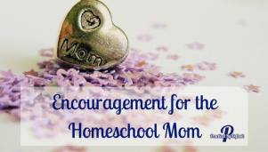Give a helping hand to encourage a homeschool mom