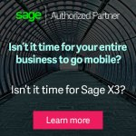 Display ad: Isn't it time for your entire business to go mobile? Isn't it time for Sage X3?