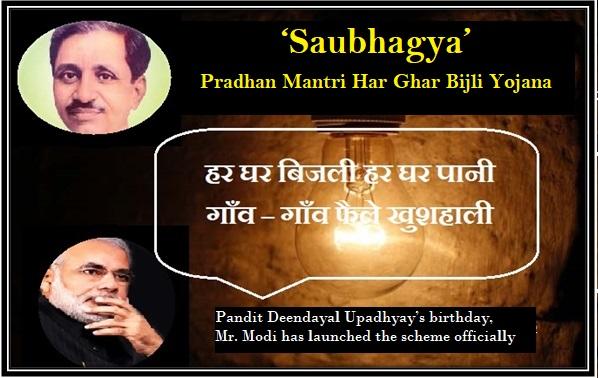 Saubhagya Yojana (Pradhan Mantri Sahaj Bijli Har Ghar Yojana)