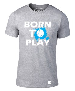 Tricou - Born to Play gri solo