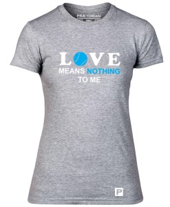Tricou - Love means nothing gri solo