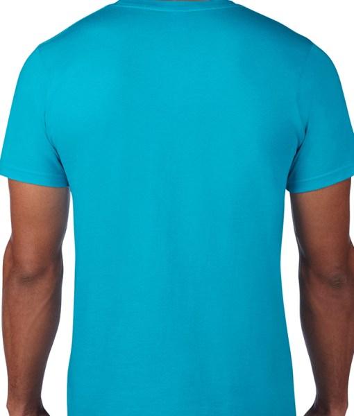 Tricou Albastru model back