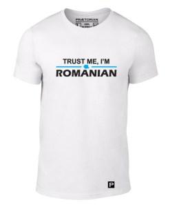 tricou Trust me alb solo