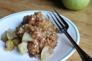 Old-Fashioned Rustic Oats and Apple Crisp