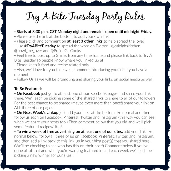Try A Bite Tuesday Rules