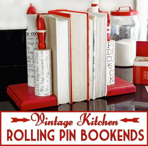 Vintage-kitchen-rolling-pin-DIY-bookends