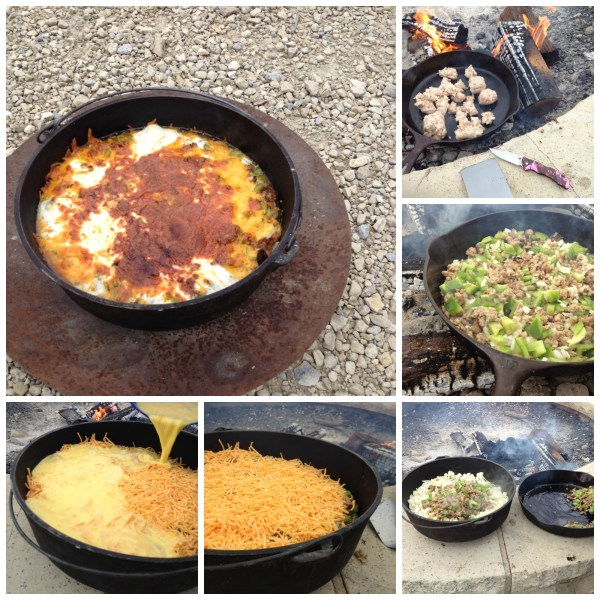 breakfast skillet collage