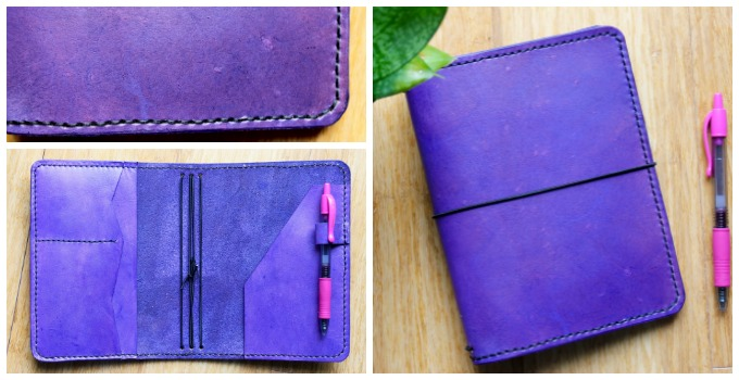 218 leatherworks purple