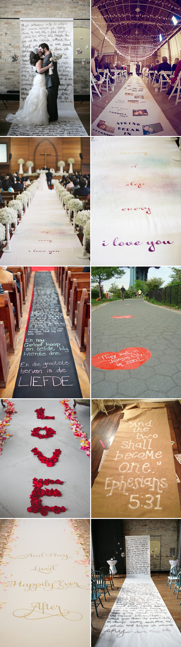 wedding runners Special Message