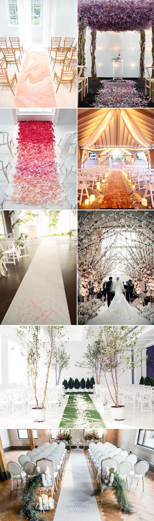 wedding runners Elegant Indoor Wedding