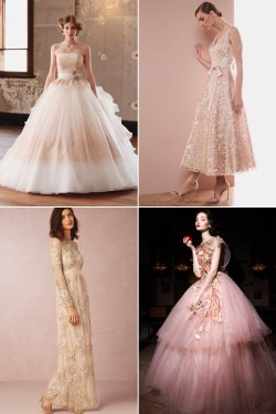 Small Of Rose Coloured Wedding Dresses