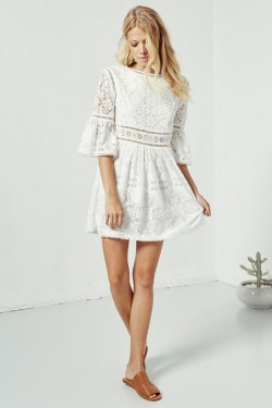 Small Of Little White Dress