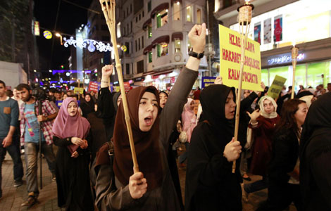 Muslims protest worldwide