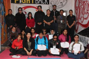Participant and team of fight back training
