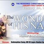 January Holy Ghost Service – THE WONDERS OF HIS NAME – 2013