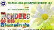 """July 2013 Holy Ghost Service: """"The Wonders of His Divine Blessings"""""""