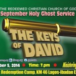 September 2014 Holy Ghost service: THE KEY OF DAVID – By Pastor E. A. Adeboye