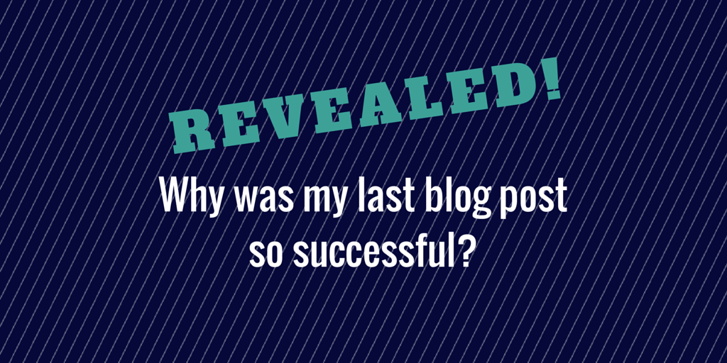Blog post success