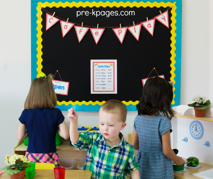 Innovative Classroom Layout ~ Dramatic play restaurant pre k pages
