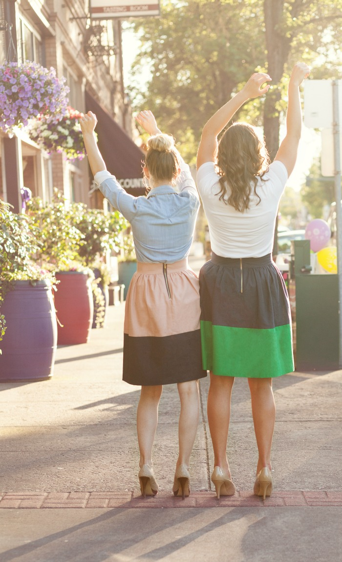Color Block Party Skirt