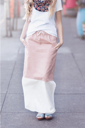 Color Block Maxi Skirt | Preciously Paired