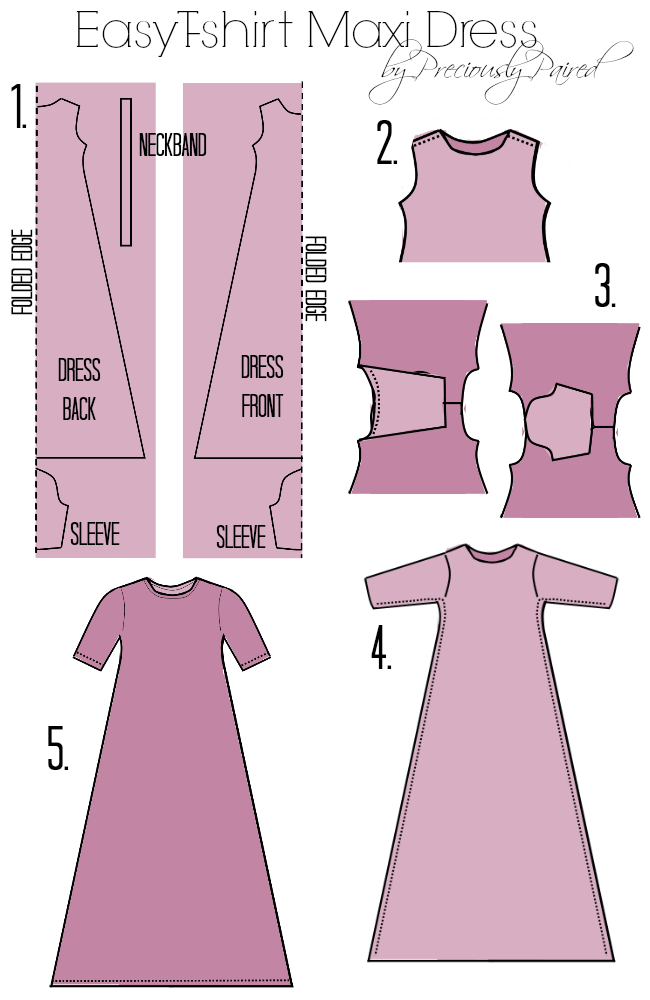 Easy T-Shirt Maxi Dress Tutorial | Preciously Paired