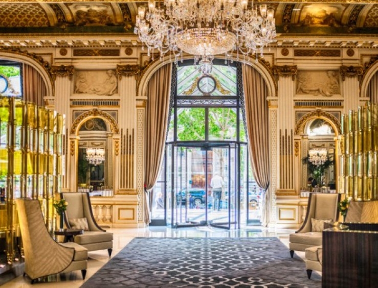 restaurante le lobby do hotel peninsula paris