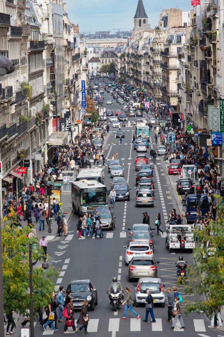 ruas para fazer compras em Paris Rue de Rennes