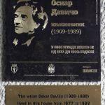 Spomen ploča Oskaru Daviču na zgradi u ulici Hadži Prodanovoj 4 u Beogradu