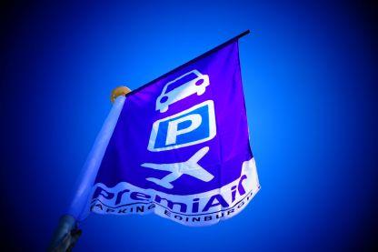 PremiAir Parking purple flags