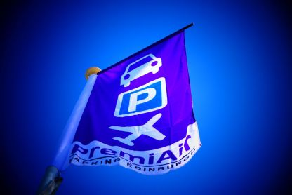PremiAir Parking purple flags