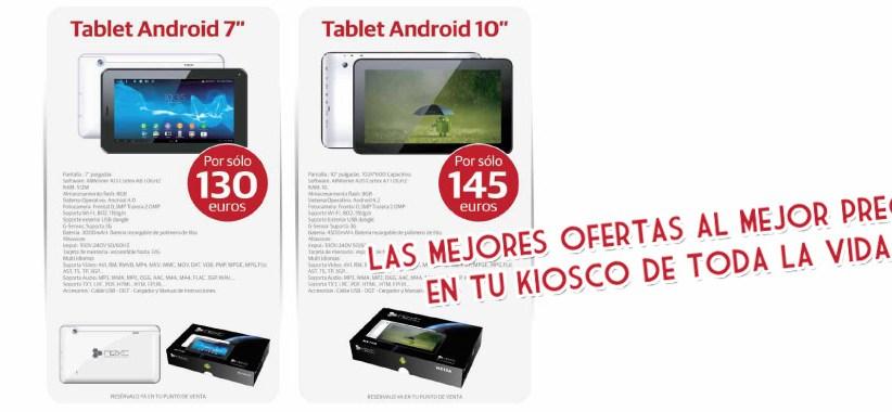 Nueva promoción de tablets Android