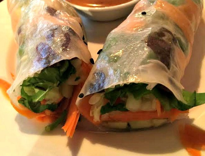 Vegetable Avocado Rice Paper Wraps from Urban Naturale