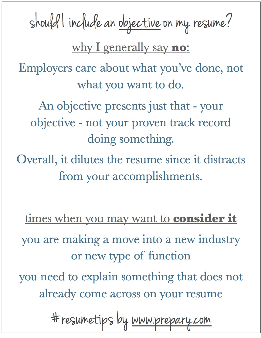 how to write a good objective for your resumes