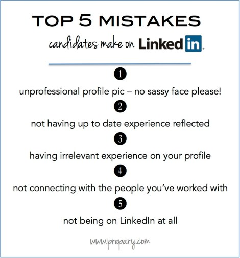 top 5 mistakes candidates make on linkedin