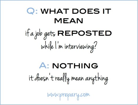 what does it mean if a job is reposted