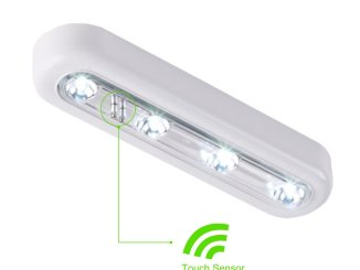 OxyLED® T-01 DIY Stick-on Anywhere 4-LED Touch Light