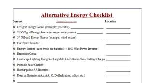 Prepper Supplies Checklist - Preppers Survive - preppers list of supplies