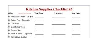 Prepper Supplies Checklist - Preppers Survive