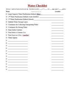 Prepper Supplies Checklist - FREE PDF