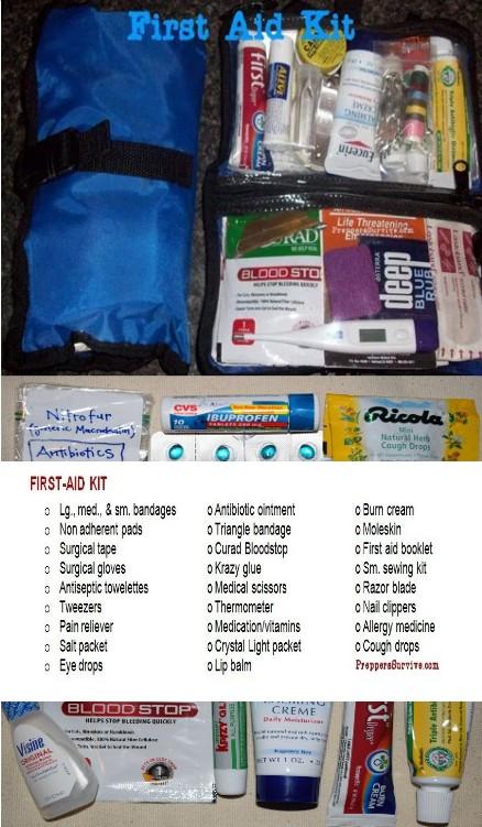 Bug Out Bag First Aid Kit - Prepper Supplies Checklist