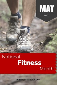 May National Fitness Month - Prepper Calender