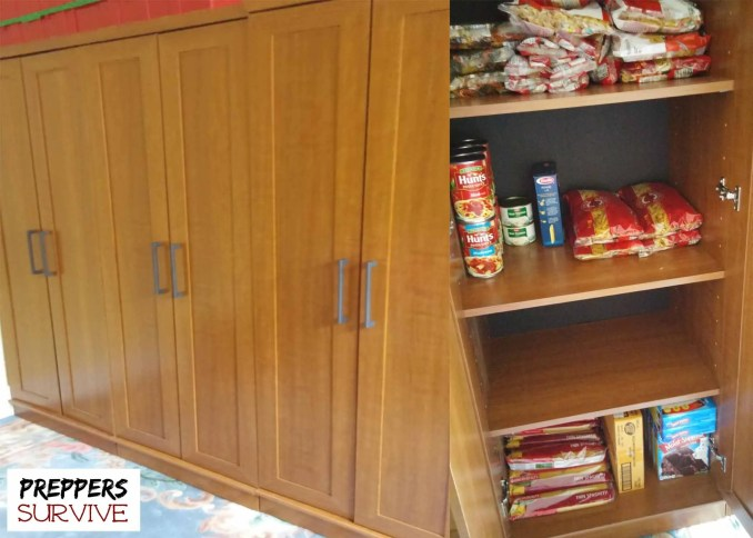 Prepper's pantries - Enclosed Cupboards